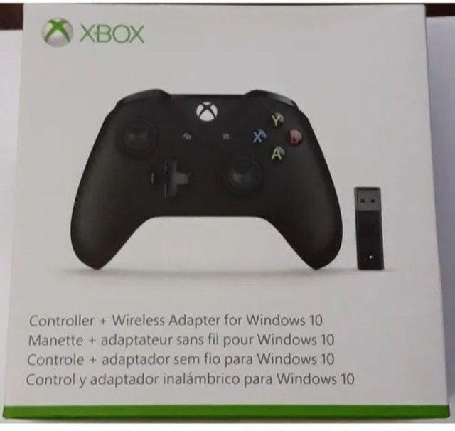 Controle Xbox One Sem fio entrada P2 +  adaptador  PC