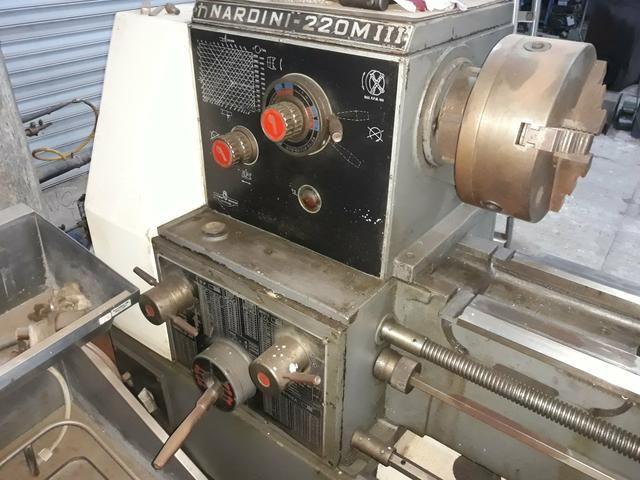 Torno mecânico 400mm x 1500 nardini chama no zap * - Foto 4