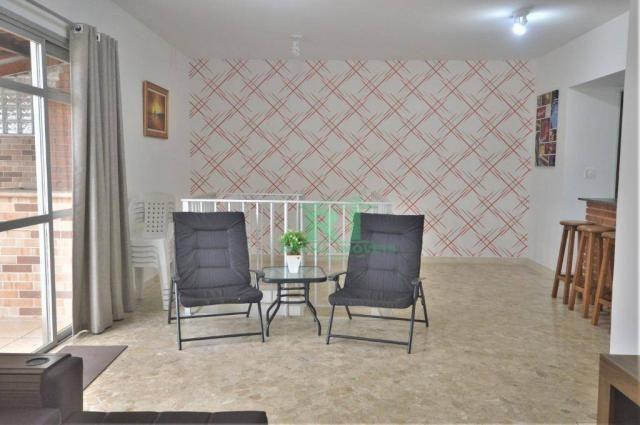 Cobertura na praia, confortável, 3 dormitórios sendo 1 suíte, 2 vagas, pitangueiras, guaru - Foto 20