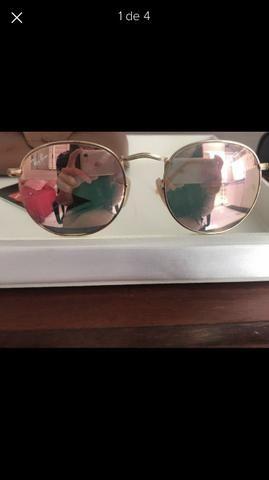 19d906c47a81e Óculos de sol ray ban espelhado rose original - Bijouterias ...