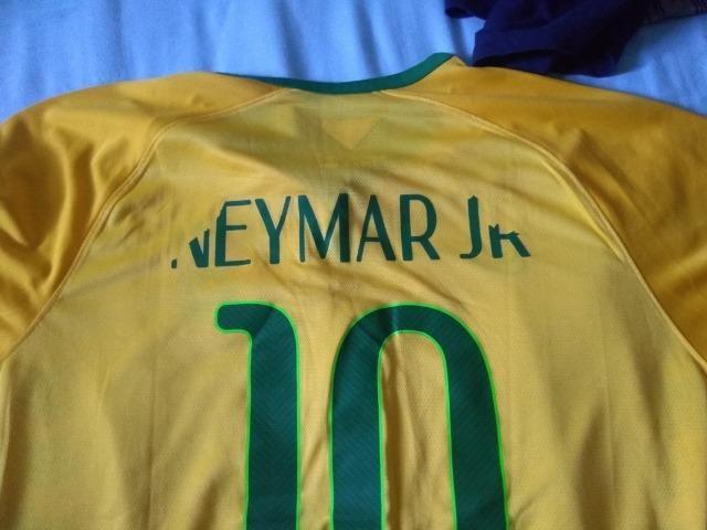 Camisa Seleção Brasileira 2014 15 Neymar Jr Tamanho G - Esportes e ... a6f56557f3c66