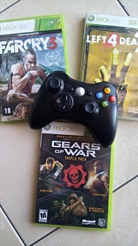 Controle Xbox + jogos