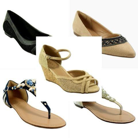 7803de8f60 Lote de Sapatos Femininos Atacado - Promoção (Sapatos, Rasteirinhas e  Sandálias)
