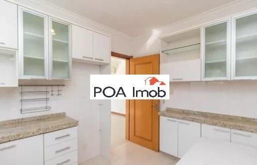 Apartamento semimobiliado com 3 dormitórios no petrópolis - Foto 6