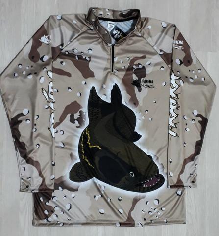 Camisa Para Pescaria Esportiva Proteção Uv45 Plus Size Mar - Foto 2