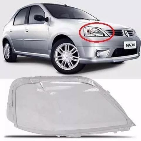 Lente Farol Renault Logan 2007 2008 2009 Direito