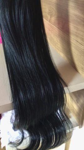 Human Hindu hair preto cabelo misturado - Foto 2