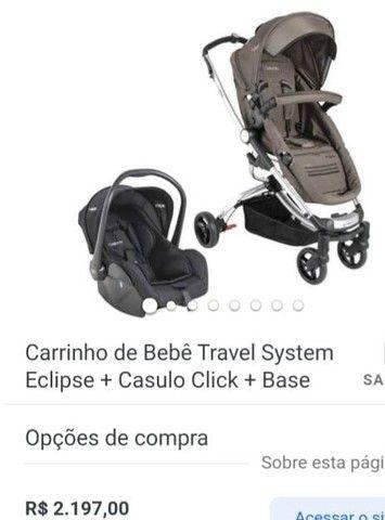 carrinho moises kiddo Eclipse BB conforto e base  - Foto 3