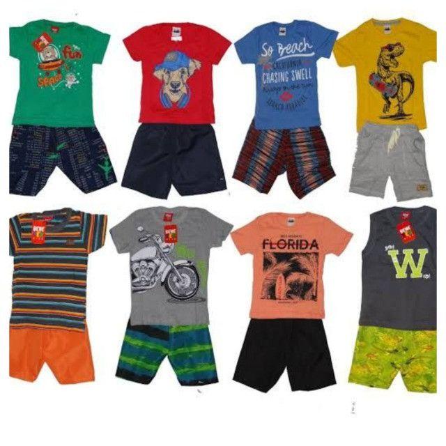 kit com 10 conjuntos menino e menina 1 ao 8 anos - Foto 4