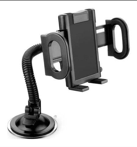 Suporte Veicular Universal Celular Gps Carro Articulado LE022 - Loja Natan Abreu  - Foto 4