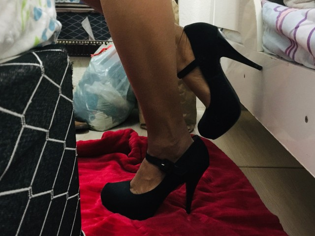 Sandália scarpam preto - Foto 3