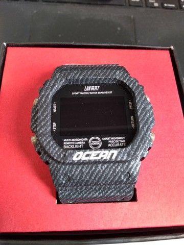relógio smartwatch lokmat - Foto 2