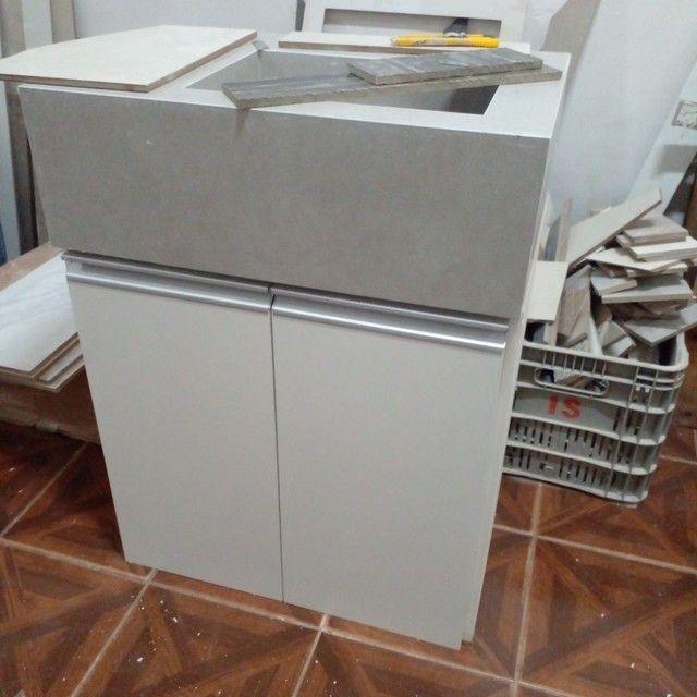 Kit pia de porcelanato e armário sobe medida - Foto 4