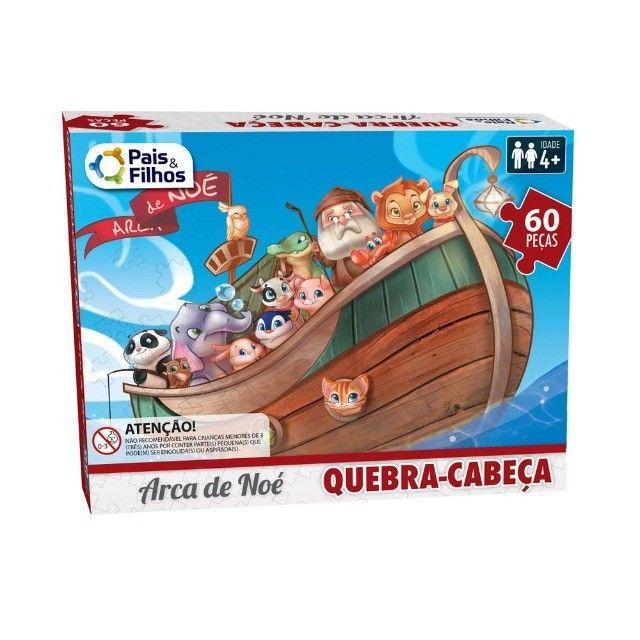 Quebra-Cabeça - 60 Peças - Arca de Noé - Pais & Filhos - Foto 2