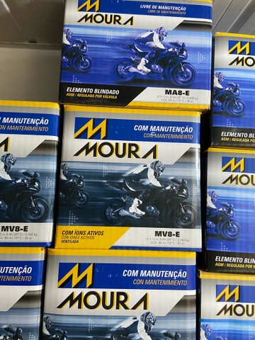 Bateria Moura para motos suzuki yes intruder gsr150 mv8-e entrega todo Rio  - Foto 3