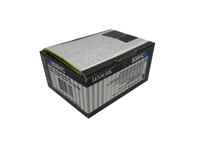 Toner Lexmark 808HC / 80C8HC0 Cyan Original Novo - Foto 2