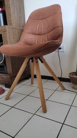 Cadeira de couro camurça - Foto 2