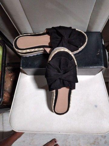 Tamanco sandalia preta tm.36 - Foto 2