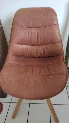 Cadeira de couro camurça - Foto 3