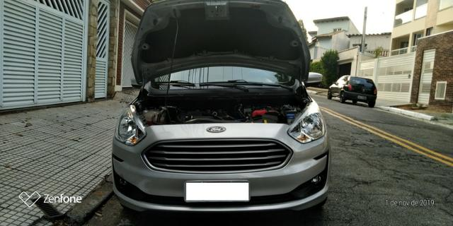 Ford Ká 1.5 SE Plus Sedan - Automático - Prata 2019-(Único Dono) - Foto 9