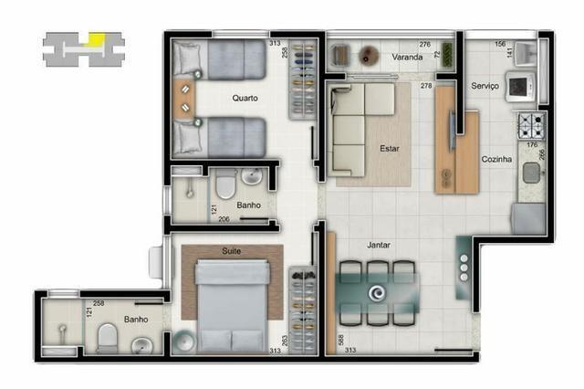 Apartamento 2 quartos suíte Morada de Laranjeiras - Happy Days - Foto 4