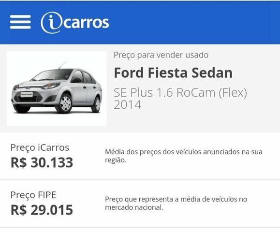 Fiesta sedan 1.6 8v 2014 Financiamento 100% PELO banco - Foto 5