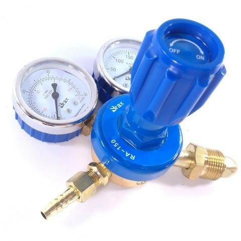 Regulador de Pressão para Cilindro de Gás Argônio ou Mistura Relógio/Manômetro - Foto 2