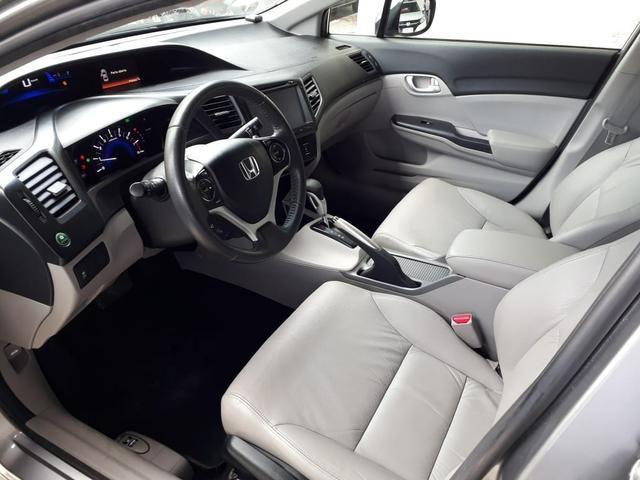 Honda 2016 Civic 2.0 lxr Automatico completo multimídia cinza único dono confira - Foto 8