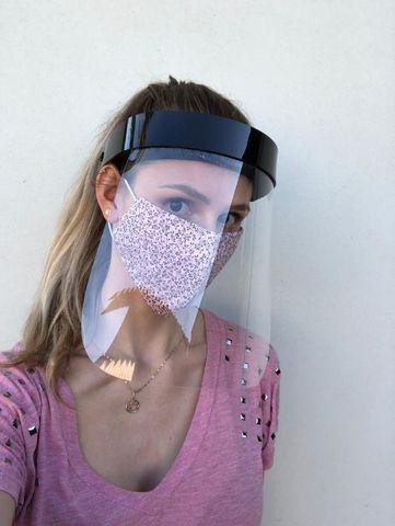 Máscaras de proteção acrílica tipo Face Shield - Foto 3