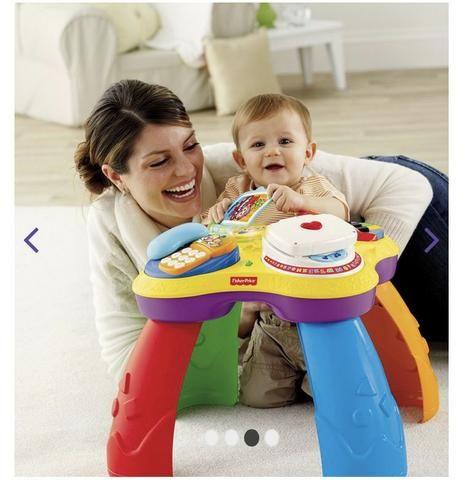 Mesa de Atividades Bilíngue do Cachorrinho - Fisher-Price e dois brinquedos importados - Foto 6