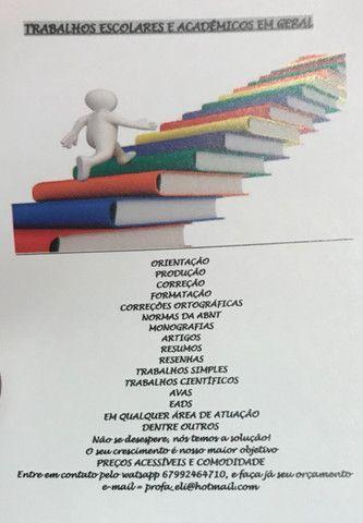 Monografias, tccs, artigos científicos e trabalhos acadêmicos em geral