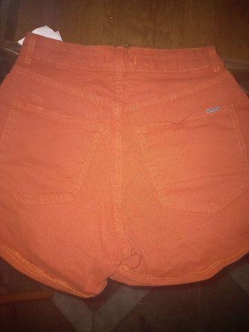 Short cintura alta laranja - Foto 2