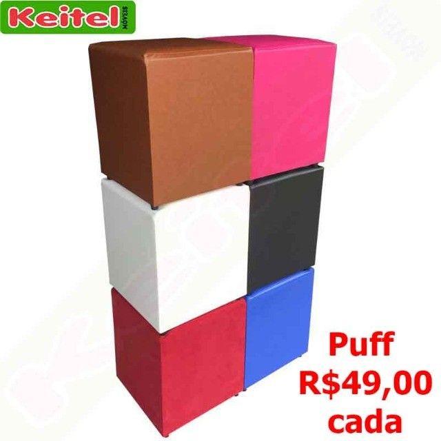 Puff Corino Quadrado R$ 49,00 cada