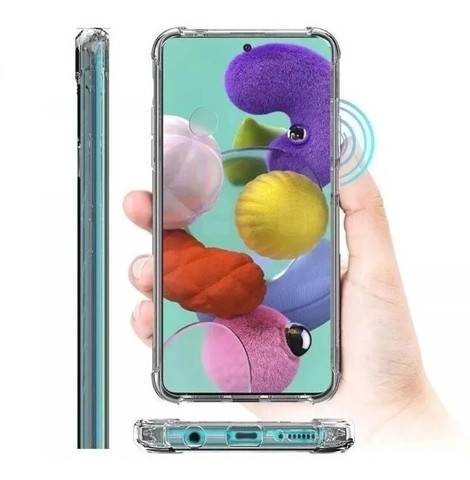Capa Samsung A51 Transparente Anti Impacto c/ Borda Samsung - Foto 3