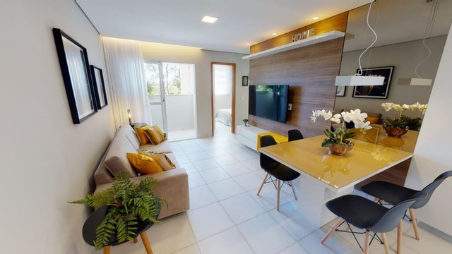 Apartamento de 2 quartos c/ varanda e suite 60m2 - Pampulha