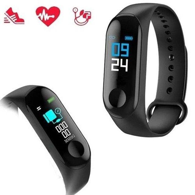 Relógio inteligente batimentos cardíaco pressão arterial - Foto 2