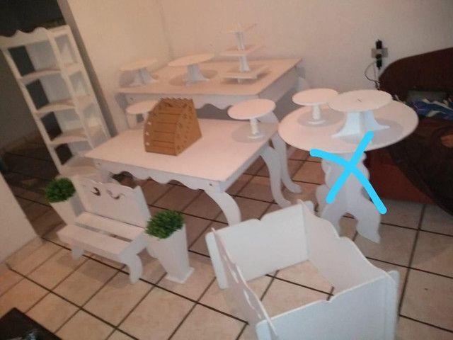 Kit branco para decoração de festa - Foto 2