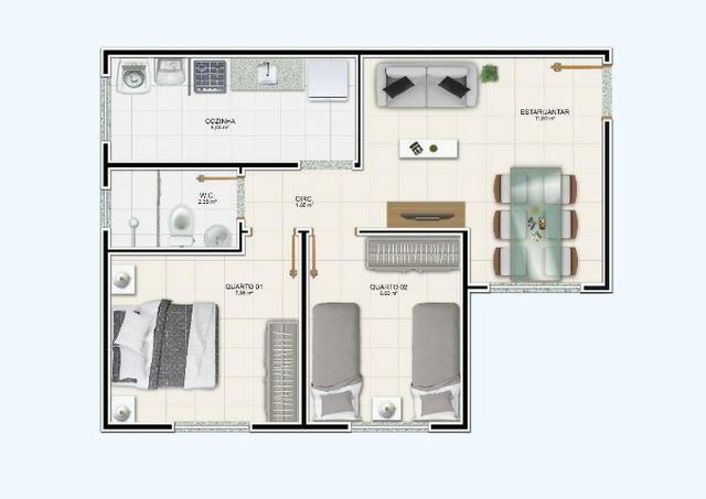 R$ 99.990 Apartamento de 2/4, no Jardim Europa - Condomínio Madrid - Feira de Santana - Foto 16