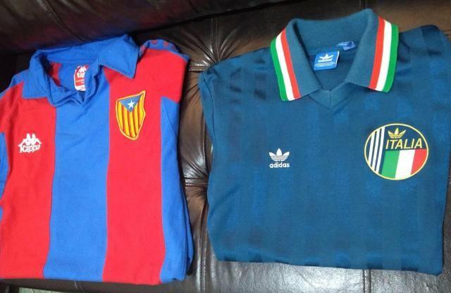 Camisa Milan, Barcelona Itália e Cosmos - Foto 5