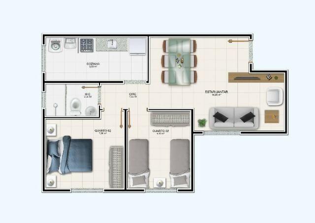 R$ 99.990 Apartamento de 2/4, no Jardim Europa - Condomínio Madrid - Feira de Santana - Foto 8