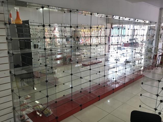 Prateleira de vidro usadas