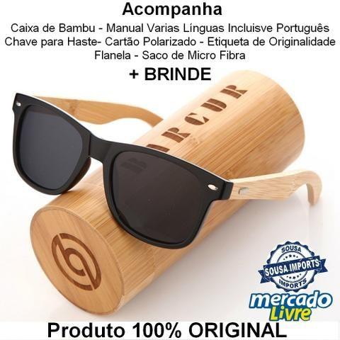 7fae29353 Óculos Haste de Bambú Unissex ORIGINAL- ENTREGAMOS - Bijouterias ...