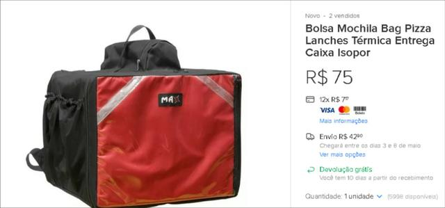 fcdf913044 Preciso de bolsa termica simples pra entrega ! manda oferta - Bolsas ...