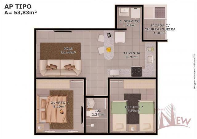 Apartamento 02 quartos em Colombo/PR - Foto 7