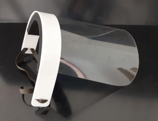 Máscaras de proteção acrílica tipo Face Shield - Foto 2