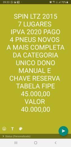 Spin LTZ 2015 7 lugares IPVA pago 2020
