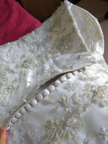 Vestido de noiva usado apenas uma vez - Foto 3