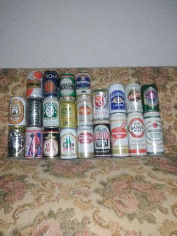 Lote 70 Latas de Cerveja Antigas Importadas Antigas - Foto 3