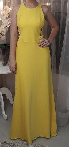 Vestido Longo Amarelo