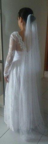 Vestido de noiva todo rendado - Foto 6